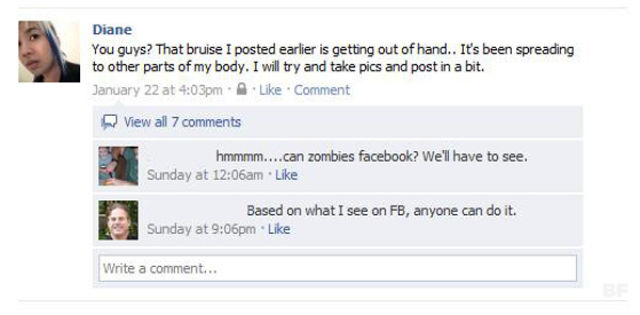 Facebook Users Are Infected by Zombies?