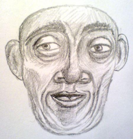 Creepy man