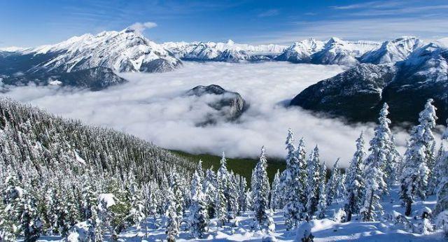 Beautiful Mountains in Winter