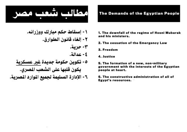 Egyptian Protest Plans
