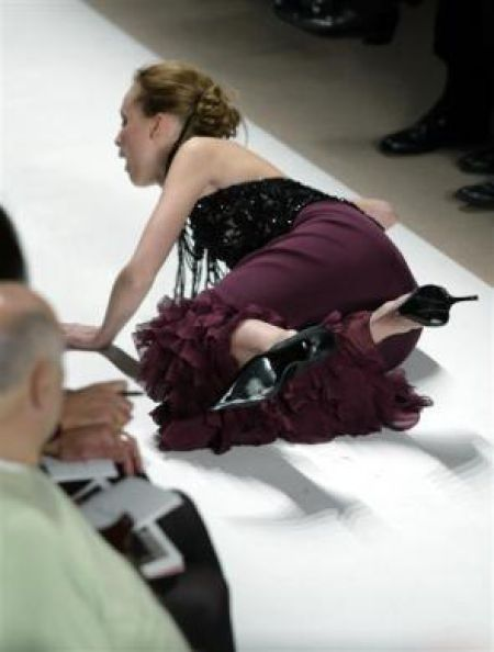 Embarrassing Shots of Models Falling