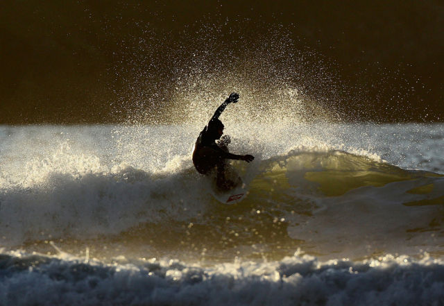 Winter Surfing in England