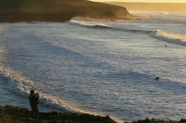 Winter Surfing in England