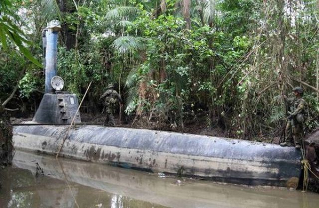 A Seized Drug Smuggling Submarine