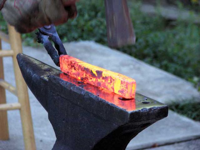 Making a Blade from Homemade Steel