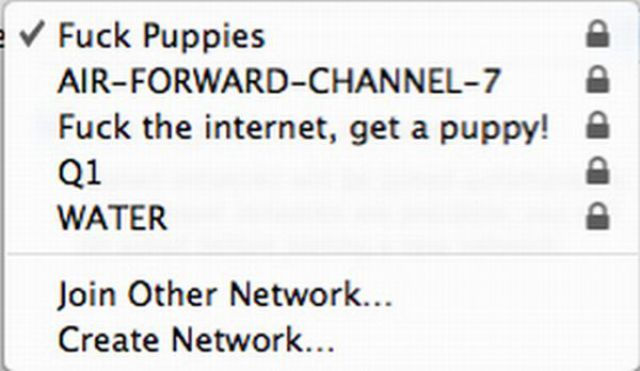 Funny Wi-Fi Network Names
