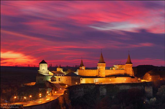 Dusk Sets Over Ukrainian Castle