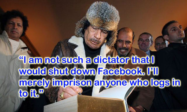 Silliest Gadaffi Quotes