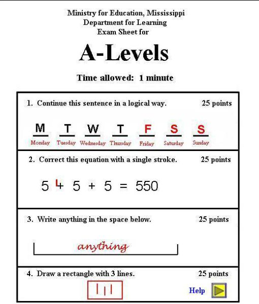 Oldie of the Day: How Not to Pass an Exam