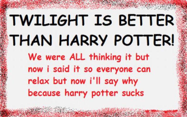 Twilight Nutcase Bashes Harry Potter