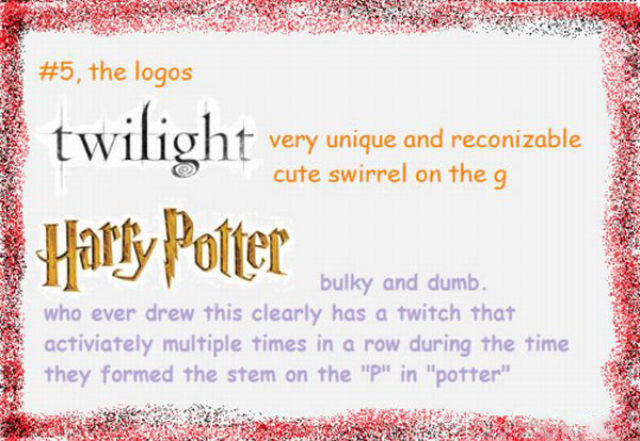 Twilight Nutcase Bashes Harry Potter