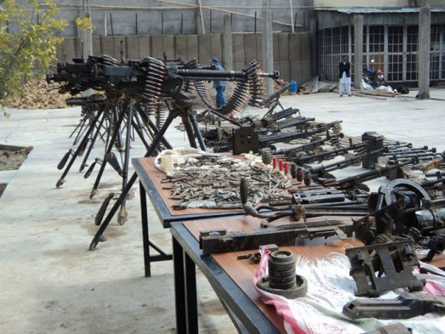 A Confiscated Arsenal of Weapons