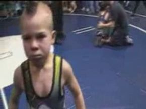 Amazing 7 Year Old Wrestler