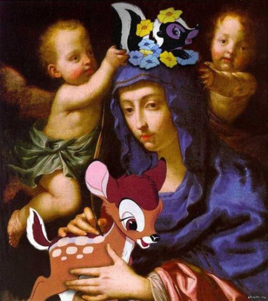 When Classic Art and Cartoons Are Mixed