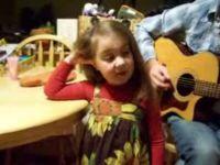 Cute Little Girl Sings Her Favorite Song
