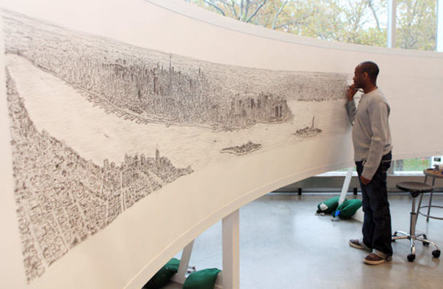 Autistic Artist Draws Complex Images from Memory