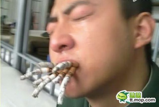 How They Make Chinese Soldiers Quit Smoking