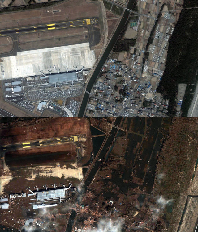 Japan from Above: Before and After Tsunami