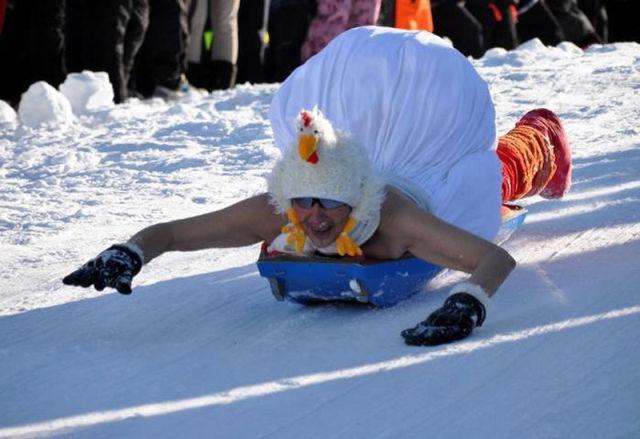 Funny Race Half-Naked