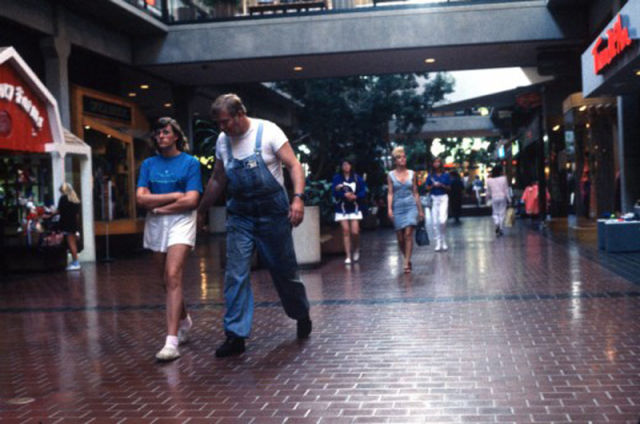 Blast to the 1990s Shopping Mall Past