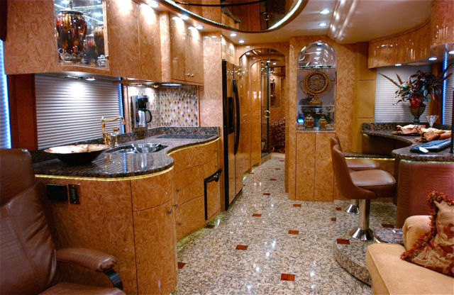 Tricked Out Coach Bus Feels Like Home