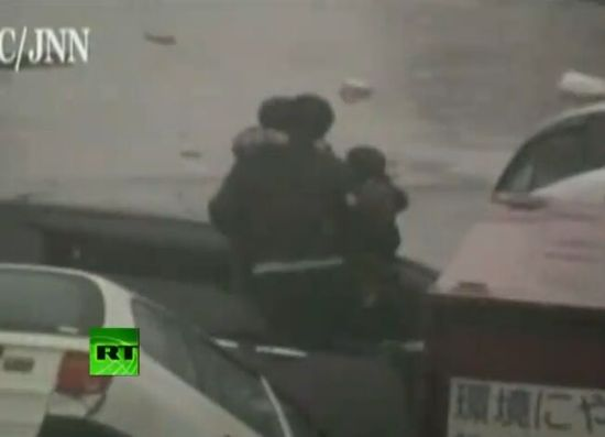 Running from Tsunami: Dramatic Rescue Video [VIDEO]