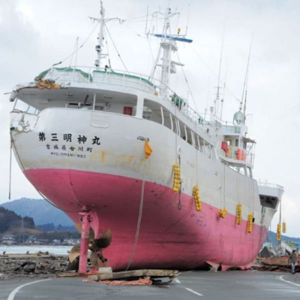 Ships and Boats Swept Away after the Tsunami