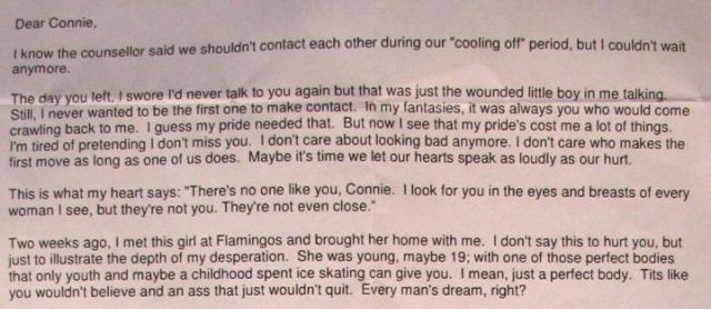 Brutal Divorce Letter Pulls No Punches