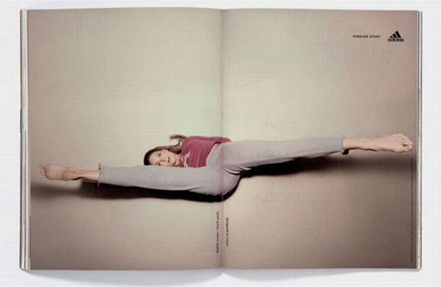 Unfolded Magazine Advertisements