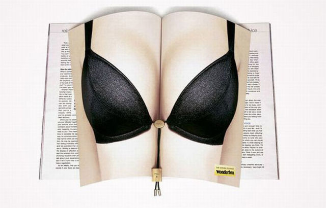 Unfolded Magazine Advertisements