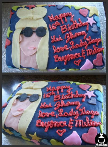 Birthday Cakes in Honor Lady Gaga