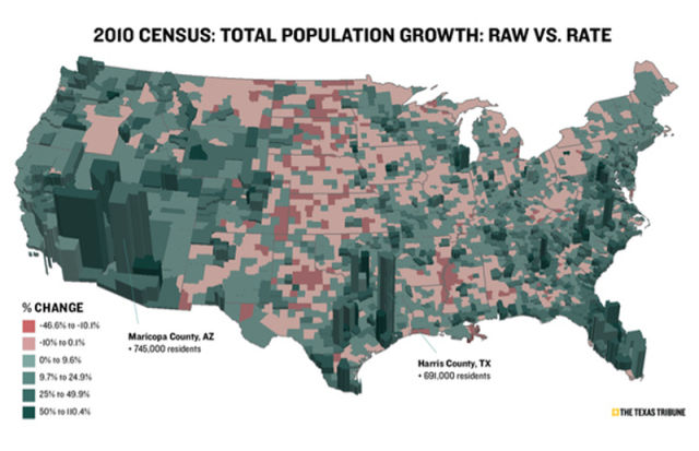 Fascinating US Census Maps and Graphs