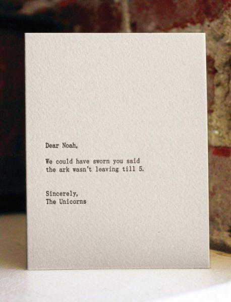 Funny Dear Blank Please Blank Cards