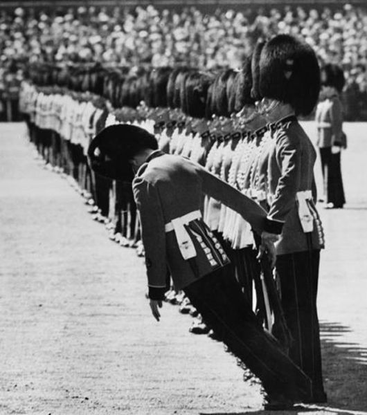Soldiers Passing Out During Official Ceremonies