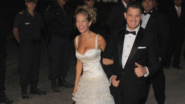 Michael Buble was silent at his own wedding