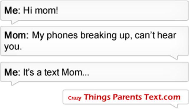 When Parents Text Their Kids