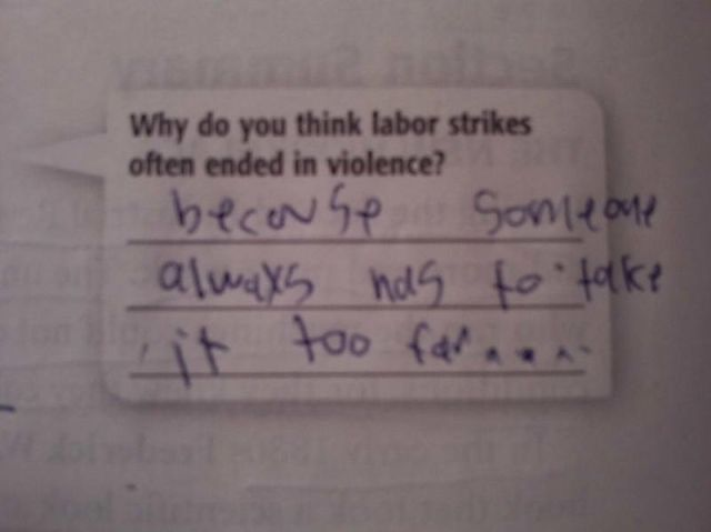 Hilarious Exam Answers