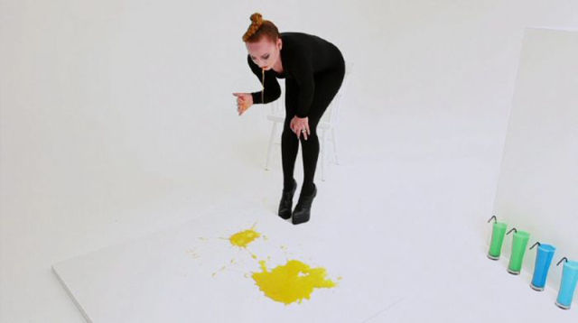 Artist Created Her Paintings by Vomiting