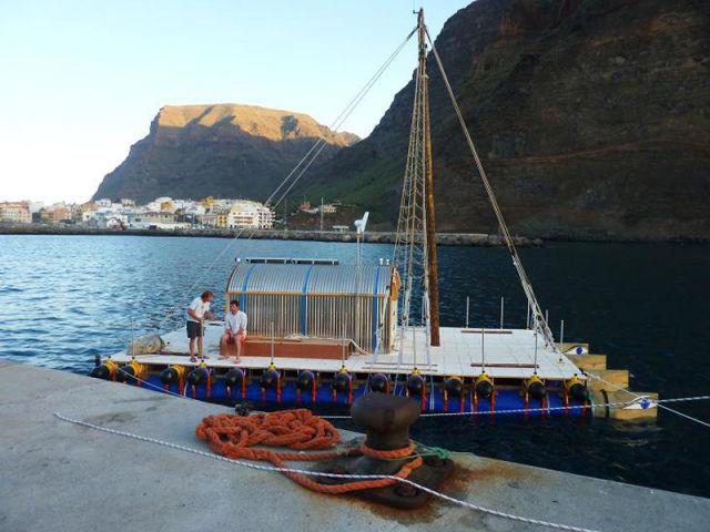 Across the Atlantic on a Homemade Raft