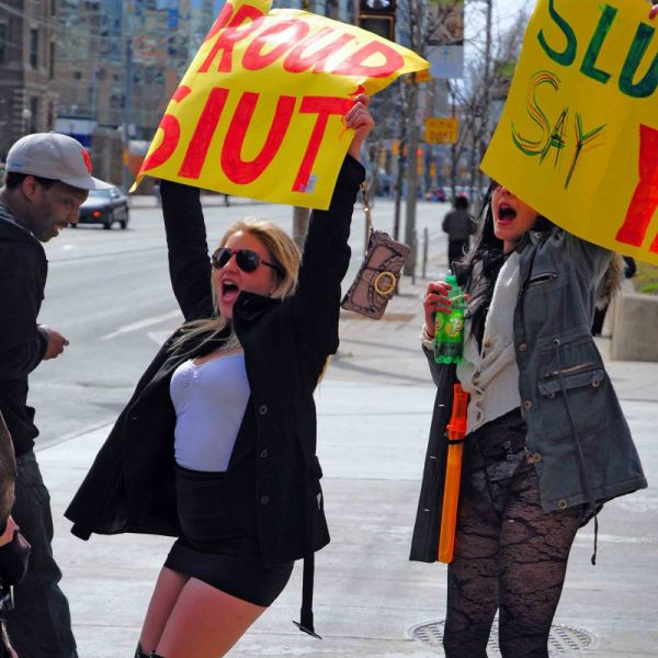 Sluts Unite In Protest of Idiot Police Officer Comments