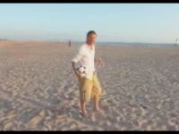 Beckham Shows His Talent on the Beach