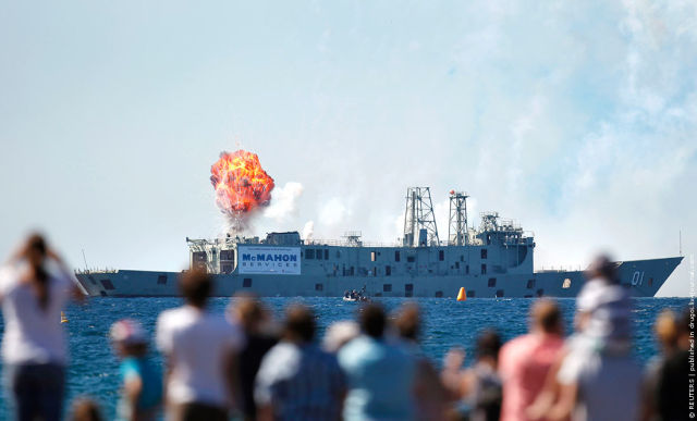 Australian Ship Intentionally Sunk for Retirement