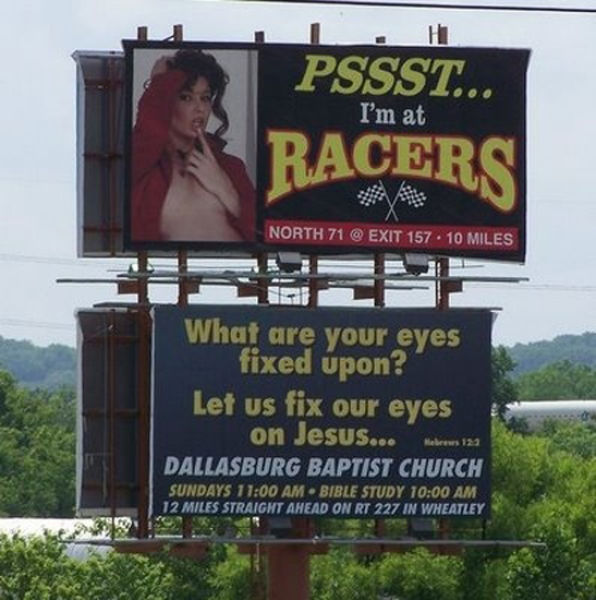 Bad Locations for Jesus Signs