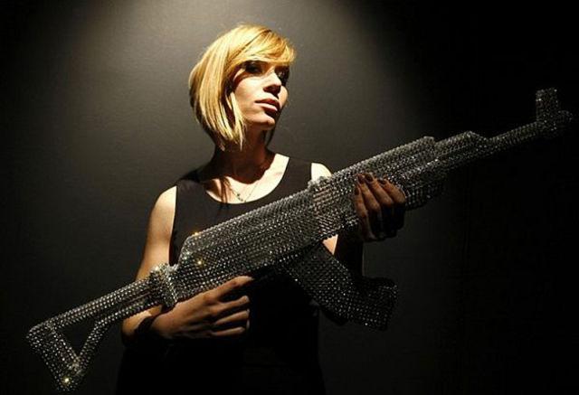 Glamour Kalashnikov from Swarovski Crystals
