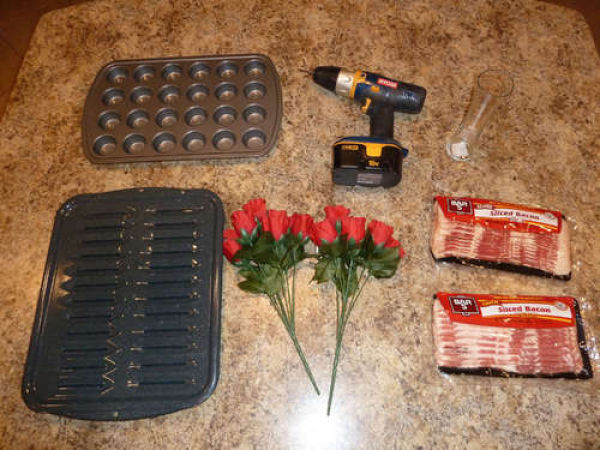 Making of Bacon Roses