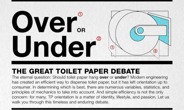 The Endless Toilet Paper Debate
