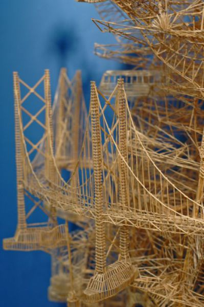 35 Years to Build a Toothpick Sculpture
