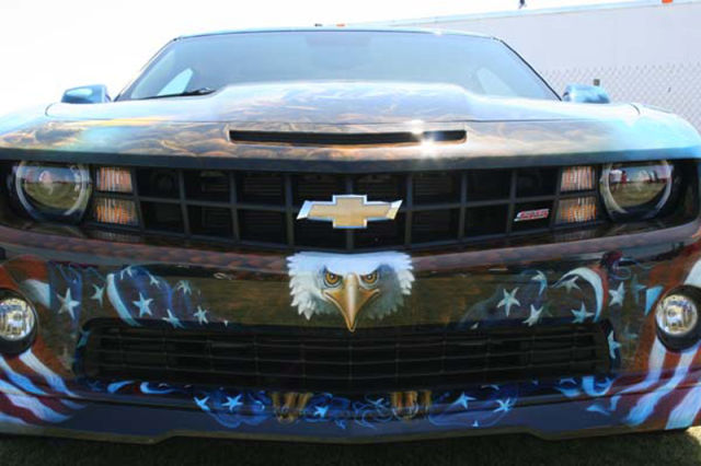 Insanely Patriotic Airbrushed Camaro