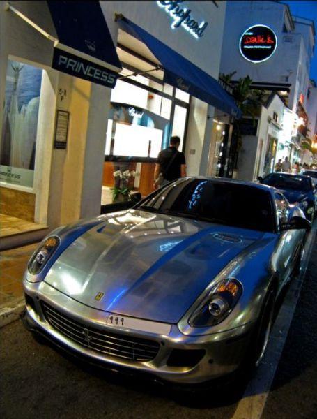 Shiny Chromed Cars