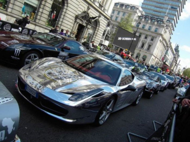 Shiny Chromed Cars